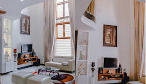 Mr. Rajeshekar Residence: modern Living room by Geometrixs Architects & Engineers