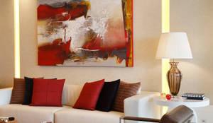Riserva Uno: Salas de estar modernas por Patrícia Netto Arquitetura & Design