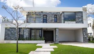 Casas unifamiliares de estilo  por CIBA ARQUITECTURA