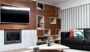 SALA DE ESTAR DE T3 EM MATOSINHOS: Salas de estar modernas por TGV Interiores