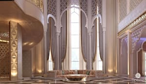Moroccan interior design:  الممر والمدخل تنفيذ Spazio Interior Decoration LLC