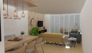 Salas / recibidores de estilo escandinavo por 78metrosCuadrados