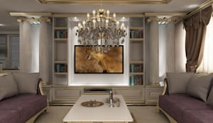novum dekor – kırklareli villa: kırsal tarz tarz Oturma Odası