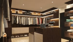 WALK-IN CLOSET : modern Bedroom by Linken Designs
