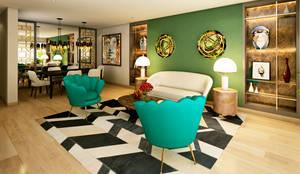 Proyecto PR: Salas / recibidores de estilo  por Luis Escobar Interiorismo