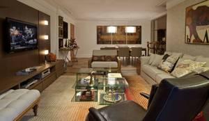 Sala de Estar: Salas de estar ecléticas por Rosane França Arquitetura