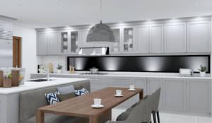 Cocinas equipadas de estilo  por Rossi Design - Architetto e Designer,
