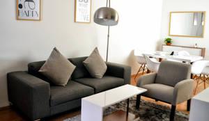 Sala acogedora: Salas de estilo  por Estudio Raya