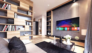Gallery West Apartment:  Ruang Keluarga by Jati and Teak