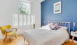 Tier on Tier Shutters in the Bedroom: modern Bedroom by Plantation Shutters Ltd