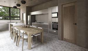 COCINA: Cocinas equipadas de estilo  por Mouret Arquitectura
