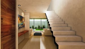 Casa AQUA: Escaleras de estilo  por Speranto