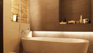 강남구 청담동 펜트하우스 네추럴 인테리어: 그리다집의  욕실