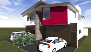 Fachada Principal: Casas unifamiliares de estilo  por Arq. Máximo Alvarado Bravo