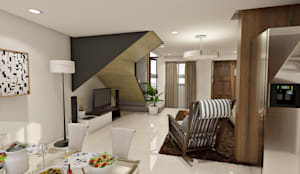 Brand new 2 storey house - Living room and Dining space:  Living room by Architecture Creates Your Environment Design Studio