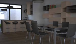 Comedor y cocina: Comedores de estilo moderno de Juan Millán Peregrín - Arquitecto autónomo