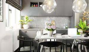 Двухкомнатная квартира в стиле Модерн: Кухни в . Автор – Rerooms