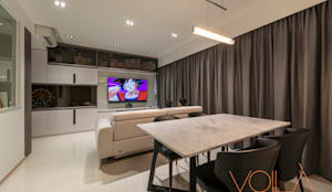 27 Anchorvale Crescent, Bellewaters:  Dining room by VOILÀ Pte Ltd,