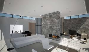 House in Madrid: Salones de estilo minimalista de Studioapart
