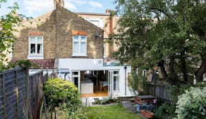 Outside View of the Kitchen Extension:  Terrace house by Resi Architects in London