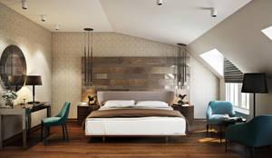 Dormitorios de estilo moderno de Tolga Archıtects