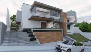 Casa M: Casas unifamiliares de estilo  por emARTquitectura