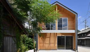 I-house 外観: 株式会社 森本建築事務所が手掛けた木造住宅です。