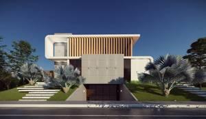 Fachada provocativa: Casas modernas por Vortice Arquitetura