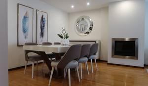 Sala de jantar elegante, sofisticada e confortável : Salas de jantar modernas por Alma Braguesa Furniture