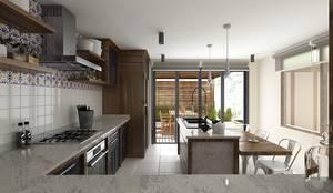 Casa Naranjos 32: Cocinas equipadas de estilo  por Soma & Croma