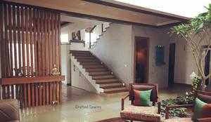 VILLA 46, EKTHA PRIME-GACHIBOWLI, HYDERABAD:  Stairs by Crafted Spaces