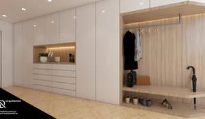 Casa na Freiria   Design Interior: Corredores e halls de entrada  por DR Arquitectos