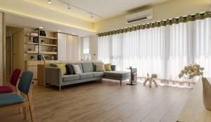 暖心:  客廳 by 詩賦室內設計, 北歐風