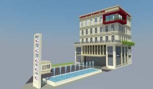 EDIFICIO LABORATORIOS: Escuelas de estilo  por TECTUM Diseño & Construccion