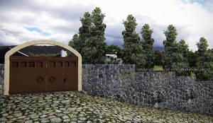 Acceso principal: Casas multifamiliares de estilo  por EMM Studio