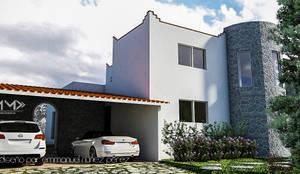 Casa Tepoztlán: Casas de estilo  por EMM Studio