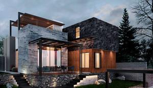 Residencia RL_01: Casas unifamiliares de estilo  por 3C Arquitectos S.A. de C.V.