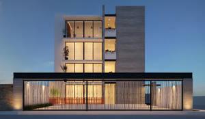 TORRE DE DEPARTAMENTOS: Casas multifamiliares de estilo  por Arq Jose Gutierrez