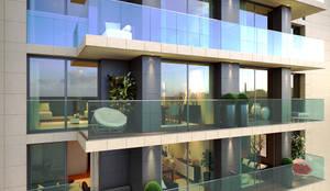 Short Stay Building with 25 Apartments, Avenida da Republica: Hotéis  por Inêz Fino Interiors, LDA