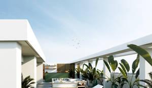 Pent House Quinta dos Alcoutins, Lumiar: Piscinas industriais por Inêz Fino Interiors, LDA