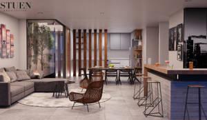 Área social: Salas de estilo moderno por Stuen Arquitectos