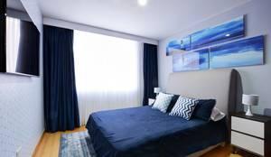 Gauss, disfruta cada espacio: Habitaciones de estilo moderno por Natalia Mesa design studio