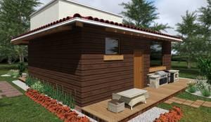 Casa de Campo: Casas de estilo moderno por HC Arquitecto