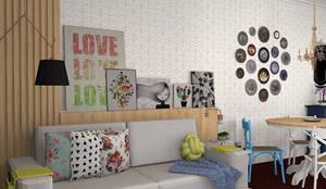 Sala Jovem: Salas de estar ecléticas por Decoropravocê - Decoração ao seu alcance.