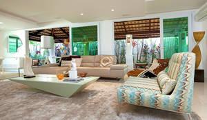 Residência: Salas de estar modernas por RI Arquitetura