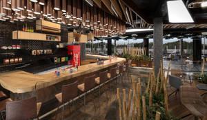 Dündar Design - Mimari Görselleştirme – Kafe - İç Mekan:  tarz Yemek Odası