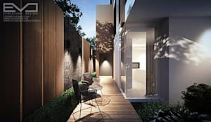 K.zing's House:  ระเบียง, นอกชาน by evodezign co.,ltd.