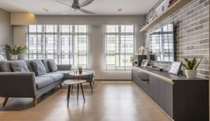 673B Yishun Ave 4 - Modern Scandinavian :  Living room by VOILÀ Pte Ltd