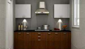 Kitchen : asian Kitchen by Golden Spiral Productionz (p) ltd