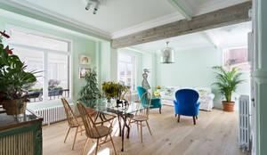 Diseño y reforma integral de una vivienda de 70 años en A Coruña: Comedores de estilo industrial de Imaisdé Design Studio